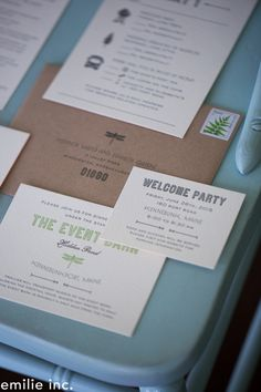 dragonfly wedding invitation suite for a garden wedding  | emilie inc photography