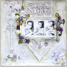 """""""Everyday Moments"""" Layout by Blue Fern Studios Design Team Member Bente, using the beautiful 'Deja Vu' collection ~ Wendy Schultz ~ Scrapbook Pages Mixed Media Scrapbooking, Scrapbooking Layouts, Scrapbook Paper, Digital Scrapbooking, Kids Pages, Art Pages, Mixed Media Canvas, Mixed Media Art, Websters Pages"""