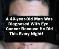 This 40 year old man was diagnosed with eye cancer because of. 40 Year Old Men, 40 Years Old, Facebook Image, For Facebook, Natural Sinus Relief, Get Rid Of Bunions, Quote Pictures, Today Pictures, Night Pictures