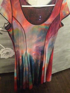 Black Milk SAMPLE - Rainbow v Purple Galaxy Evil Cheerleader Inside Out Dress - LARGE.  My Black Milk Unicorn and most favourite piece :)