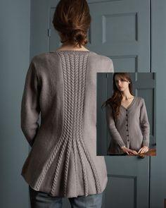 Sophia / Cable Vent Jacket | Knitting Fever Yarns & Euro Yarns