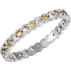 1/3 CTW Diamond and Yellow Sapphire Eternity Band, click to be directed for purchase!