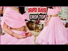 blouse patterns for lehenga Sleeves Designs For Dresses, Blouse Neck Designs, Designer Blouse Patterns, Dress Sewing Patterns, Skirt Patterns, Coat Patterns, Drape Dress Pattern, Traditional Blouse Designs, Lehenga