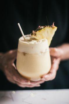 Ginger Pina Colada - Pineapple , Coconut Cream, Coconut Water, Coconut Nectar, Ginger, Vodka.