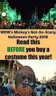 Mickey's Not-So-Scary Halloween Party 2016 at Walt Disney World: Updates, additions, and why you need to read this BEFORE you even think about a costume!