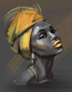 Seaty Artwork, African Woman, Graffiti, Canvas Art Print, Pop Art - Fushion News Black Girl Art, Black Women Art, Art Girl, Black Girls, Art Women, Images D'art, L'art Du Portrait, Portraits, Artistic Portrait