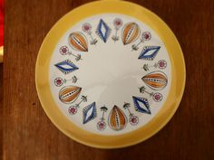 Egersund Flint plate in fab condition Scandinavian retro atomic ceramic 50's