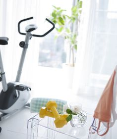 Why not refresh your home and pursue your New Year's resolutions? Schumacher recommends finding a beautiful basket to store weights and fitness equipment, then committing to a short workout before your morning shower. Make sure the surrounding space is serene and calm.