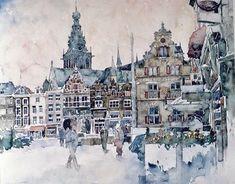 Nijmegen, Grote Markt door Jacques Wesselius