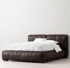 Sona Leather Platform Bed