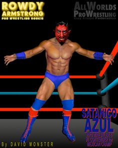 Meet SATANICO AZUL, the masked wrestler who is Mexican Heavyweight Champ VICTOR OCTAVIO's #1 Contender. Can he strip the bigger man of his belt? From the www.RowdyArmstrong.com Novels & www.AllWorldsProWrestling.com Game #GayProWrestling #EroticWrestling #Gay #ProWrestling #Muscle #Ripped #Abs  ALL WORLDS PRO WRESTLING Wrestling Games, Wrestling News, Red Hair, Black Hair, Scott Evans, Confused Feelings, Choices Game, Jersey Boys, Hazel Eyes
