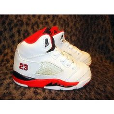 baby boy nike infant | RETRO BABY NIKE AIR JORDAN V 5 FIRE RED INFANT BOY