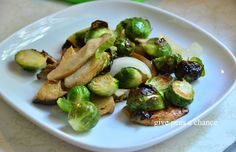 Roasted King Oyster Mushrooms & Brussels Sprouts