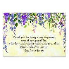 #wedding #thankyoucards - #Watercolor Lavender Floral Yellow Thank You Card