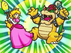 Peach attacking Bowser in 😂 - princess_peach_toadstool Super Mario Bros, Super Mario World, Super Mario Brothers, Super Smash Bros, Super Princess Peach, Mario Party Games, 2000s Cartoons, Peach Mario, Princess Toadstool