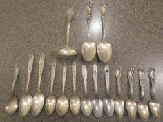 Vintage to Antique Flatware / Spoons Lot