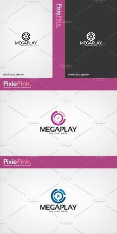 Mega Play Logo Template