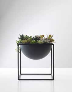 Kubus Black Steel Metal Scandinavian and Danish Fruit Bowl- By Lassen. Available online now!