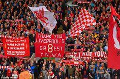 Liverpool fans show their appreciation for Gerrard