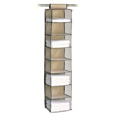 6 Shelf Yarn and Craft Organizer Black Hanging Closet Home Storage Organization