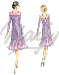 The Marfy hand made pre-cut sewing pattern :: Sewing pattern 3726 -