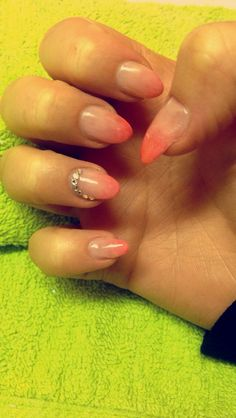 #nails #nailart #fade #crystals