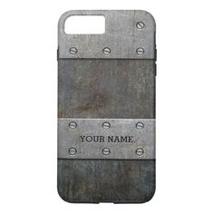 Shop Grunge Metal Look Tough iPhone 7 Plus Case created by GiftCorner. Cases Iphone 6, Iphone 6 Plus Case, Mobile Phone Cases, Phone Covers, Old Cell Phones, 6s Plus Case, Plastic Case, Metal, Phone Accessories