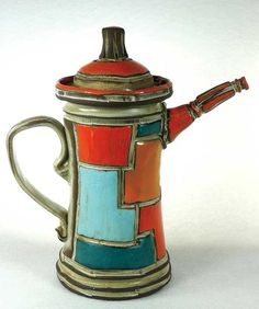 'Patchwork Teapot' by Boyan Moskov of Boyan Pottery. #ceramics #MadeinAmerica