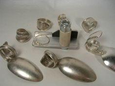 """Original"" Spoon Ring Bender Silver Gemstone Beads Wire Craft Vintage Jewelry$$ | eBay"