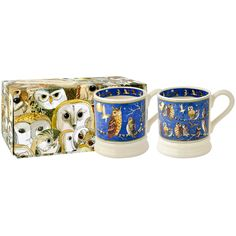 Set of Two Owls 1/2 Pint Mug Boxed Emma Bridgewater