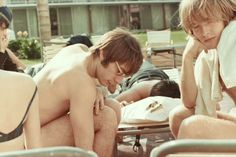 Rare 1965 photos of the Rolling Stones in America--Charlie Watts and Brian Jones.