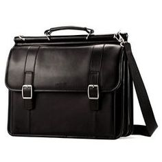 Samsonite Dowel Flapover Leather Computer Bag