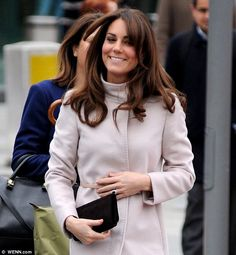Kate debuted her new hair style last night and today the heavy fringe will face a tough challenge as she travels around Cambridge in the wind and rain