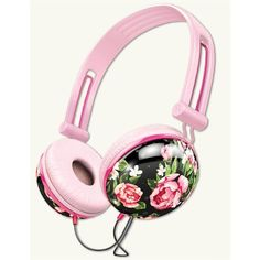 Hawthorne Rose Headphones (210 SEK) ❤ liked on Polyvore featuring accessories and tech accessories