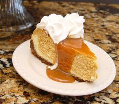 Pumpkin Cheesecake with Caramel Topping