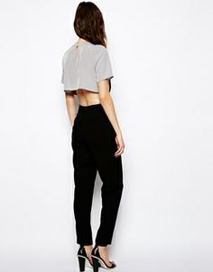 Image 2 of ASOS Jumpsuit With Crop Layer
