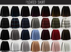 Elliesimple - Loose Graphic Tee & Pleated SkirtIf you want to support me click here ! ° DOWNLOAD ° • Loose Graphic Tee (42 + 43 + 52 swatches) OR Ad free on Patreon ♥ • Pleated Skirt (28 swatches) OR...