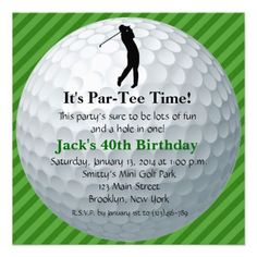 Golf Themed Birthday Invitations Becka Lynn Design Party