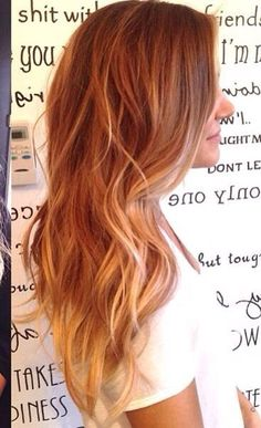 окрашивание балаяж нарыжие волосы подборка фото