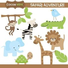 Safari Adventure Clip Art by cocoamint on Etsy