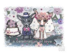Chihuahua Dog Wedding Giclee Print by Jamie Wogan Edwards at Art.com