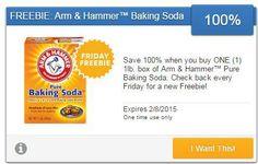 Free Arm& Hammer Baking Soda is todays Friday Freebie