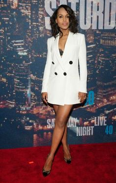 Kerry Washington in Adam Lippes at SNL's 40th Anniversary