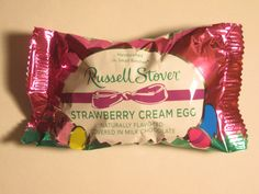Russell Stover Strawberry Cream Egg. Better than Cadbury Creme Eggs!