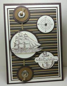 Masculine Card, nautical Stampin'Up!