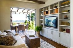 Family Room Built In Bookcase Design, Pictures, Remodel, Decor and Ideas Built In Wall Units, Tv Built In, Built In Bookcase, Built Ins, Bookshelves, Gaming Girl, Bedroom Wall Units, Contemporary Family Rooms, Modern Family