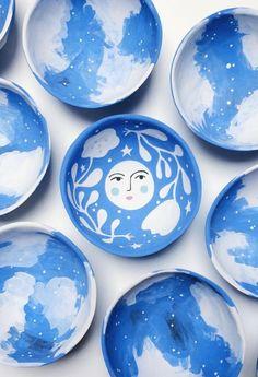 Handmade Ceramic Cosmos Dishes | LisaJunius on Etsy