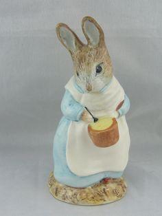 Royal Albert Beatrix Potter Figurine Mrs Rabbit Cooking by LovelyTeaCupsandMore…
