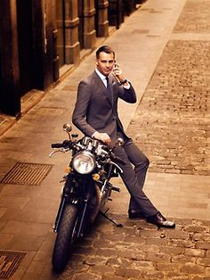Love a well dressed man...don't see it around her much!!