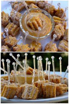 Mini churros com doce de leite de panela de pressão com a melhor massa da vida pode apostar ;)